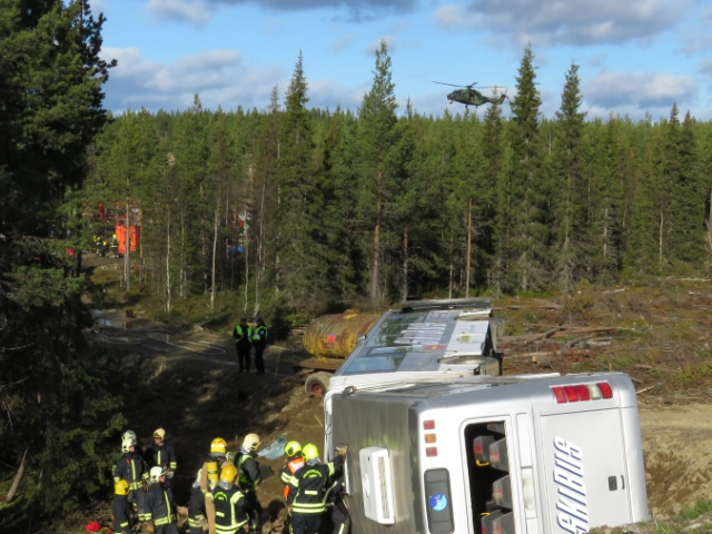Barents Rescue 2015 Exercise in Lapland